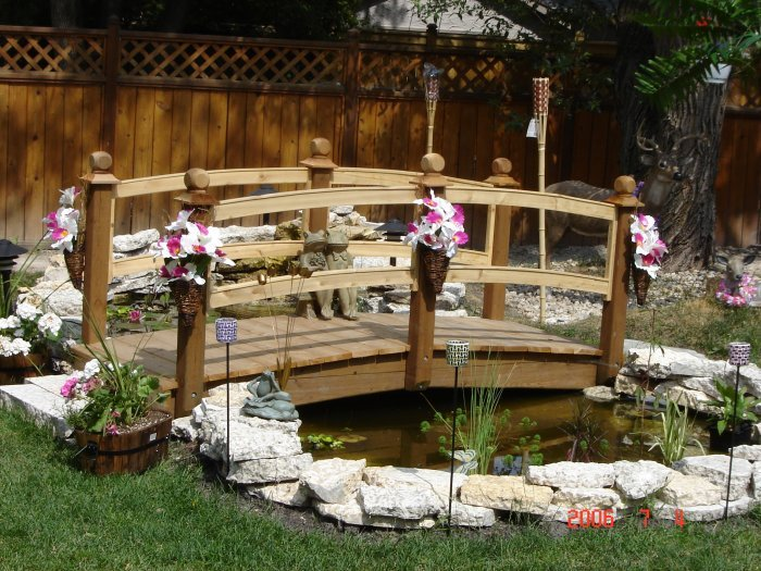 Captivating Adding Bridges To Your Back Yard Pond